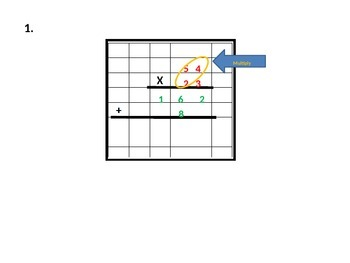 2-Digit Multiplication Using Grids Strategy with Student Worksheet