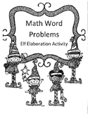 Christmas 2 Digit Multiplication Word Problems Activity