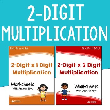 2 Digit Multiplication Worksheets with Answer Keys