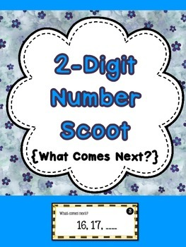 2-Digit Number Scoot {What Number Comes Next?}