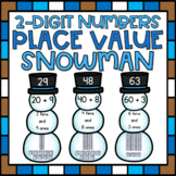 Decomposing 2-Digit Numbers to 100 Place Value Center for 1st Grade