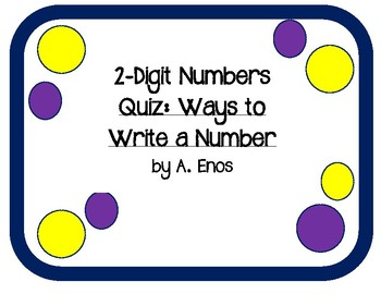 2-Digit Numbers Quiz: Ways to Write a Number