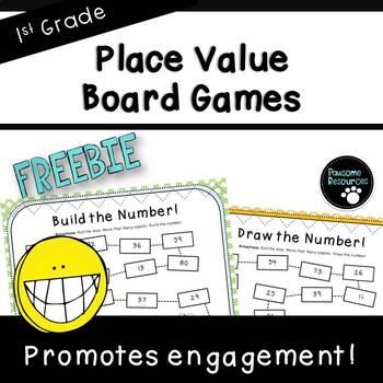 2-Digit Place Value Board Games ***FREEBIE*** (First Grade, 1.NBT.2)