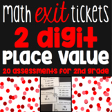 2 Digit Place Value Number Sense Exit Tickets - 20 Math As