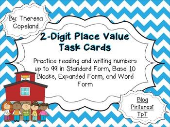 2-Digit Place Value Task Cards