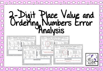 2-Digit Place Value and Ordering Error Analysis