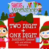 2 Digit Plus 1 Digit Addition Game - SANTA'S WORKSHOP