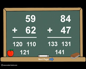 2 Digit Plus 2 Digit WITH Regrouping-PowerPoint Quiz - Matching Worksheet & Key!