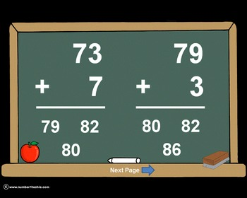 2 Digit Plus 1 Digit WITH Regrouping-PowerPoint Quiz - Matching Worksheet & Key!