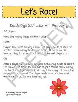 2 Digit Subtract 2 Digit with Regrouping Game