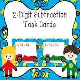 2 Digit Subtraction Task Cards 2nd Grade Subtraction Activity 2.NBT.5