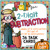 2-Digit Subtraction 36 Task Cards with Optional QR Code and Ink-friendly Choices