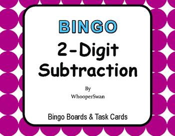 2-Digit Subtraction BINGO and Task Cards