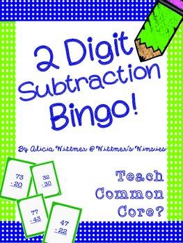 2-Digit Subtraction Bingo {Non-Regrouping}