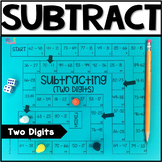 2 Digit Subtraction Board Game