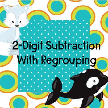 2-Digit Subtraction Boom Cards Digital Task Cards