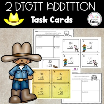2 Digit Subtraction Cards with Regrouping