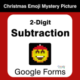 2-Digit Subtraction - Christmas EMOJI Mystery Picture - Go