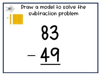 2 Digit Subtraction Digital Task Cards