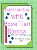 2 Digit Subtraction--Drawing Base Ten Blocks Worksheets