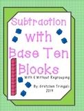 2 Digit Subtraction--Drawing Base Ten Blocks Worksheets