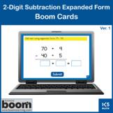 2-Digit Subtraction Expanded Form v.1: Boom Cards