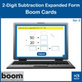 2-Digit Subtraction Expanded Form v.2: Boom Cards