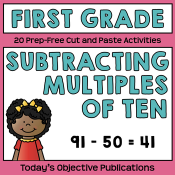 2-Digit Subtraction (First Grade Cut and Paste Practice)