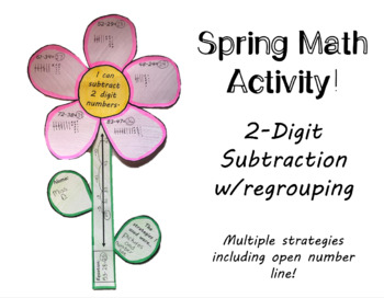 2-Digit Subtraction Spring Art (w/regrouping)