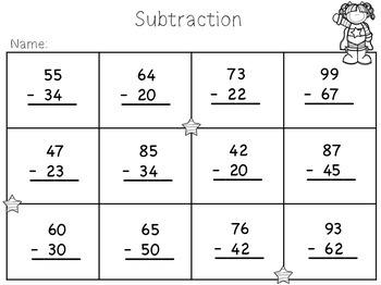 2 Digit Subtraction {Freebie}