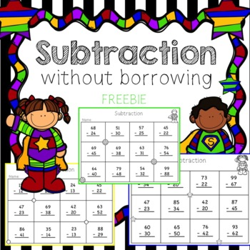 2 Digit Subtraction {Freebie}