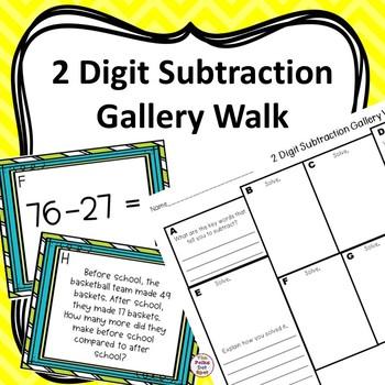 2 Digit Subtraction Gallery Walk