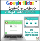2 Digit Subtraction|Google Slides| Distance Learning