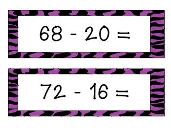 2-Digit Subtraction Kaboom Game