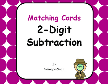 2-Digit Subtraction Matching Cards