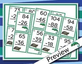 2 Digit Subtraction Math Scavenger Hunt