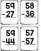 2 Digit Subtraction No Regrouping War Game