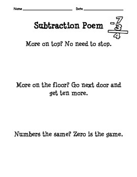 2-Digit Subtraction Pack  {skill practice and one and two step problems}