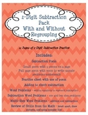 2-Digit Subtraction Pack  {skill practice and one and two