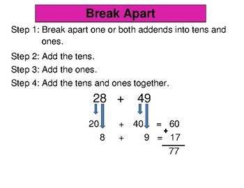 2-Digit Addition Posters - Common Core & enVisions 2.0