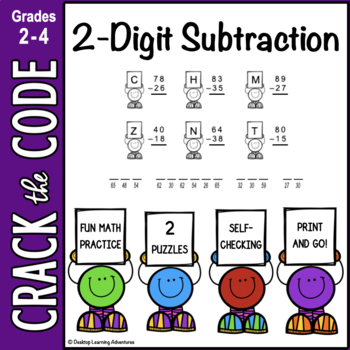 2-Digit Subtraction Practice ~ Crack the Code!