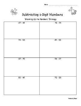 2-Digit Subtraction Practice Worksheet