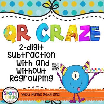 2 Digit Subtraction QR Craze {Math Workshop}