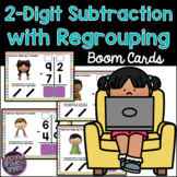 2-Digit Subtraction Regrouping Boom Cards