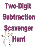 2 Digit Subtraction Scavenger Hunt