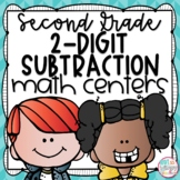 2 Digit Subtraction Second Grade Math Centers