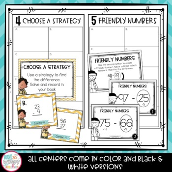2 Digit Subtraction Second Grade Math Centers