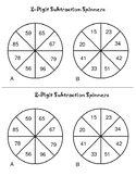2-Digit Subtraction Spinners