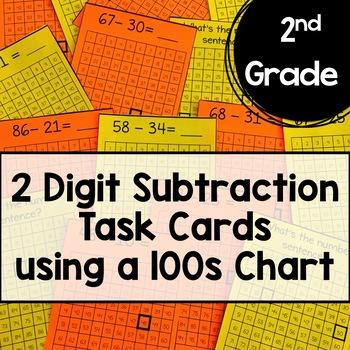 2 Digit Subtraction Task Cards