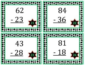 2-Digit Subtraction Task Cards with Regrouping